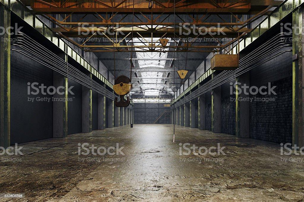 Abandoned factory interior - Stock image stock photo