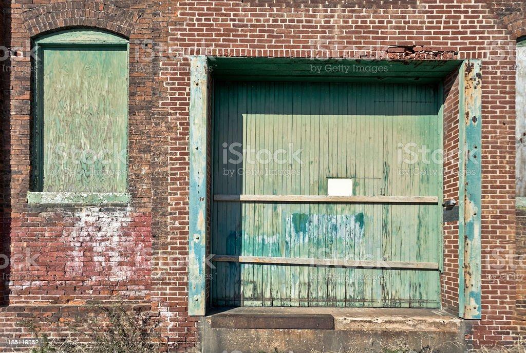 Abandoned Factory Loading Dock stock photo