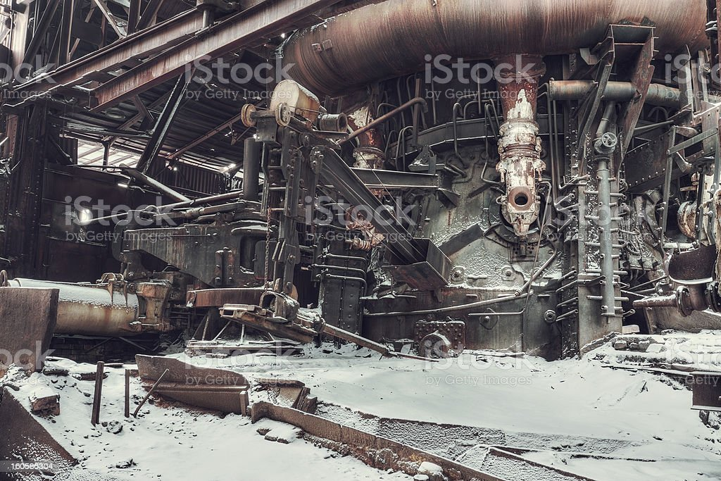 abandoned factory royalty-free stock photo