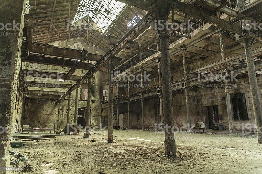 abandoned factory royalty-free stock photo