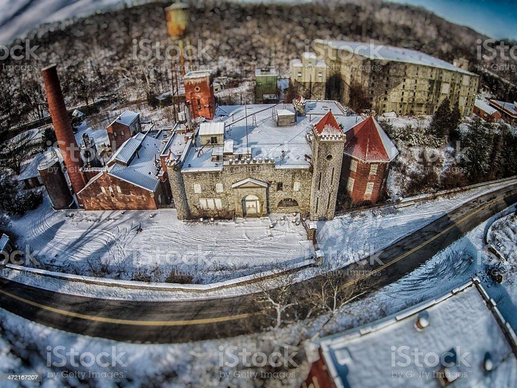 Abandoned Factory stock photo