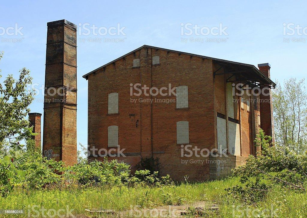 Abandoned factory. The Cheltenham Brick Works, Caledon, Ontario, Canada royalty-free stock photo