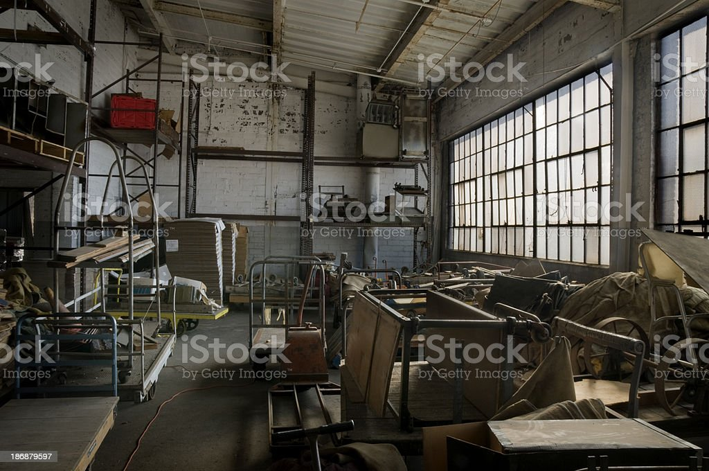 Abandoned Factory Warehouse stock photo