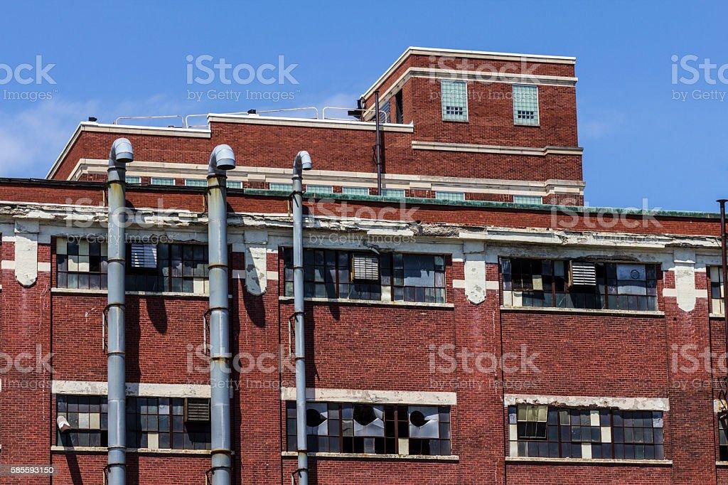 Abandoned Factory - Worn, Broken and Forgotten VII stock photo