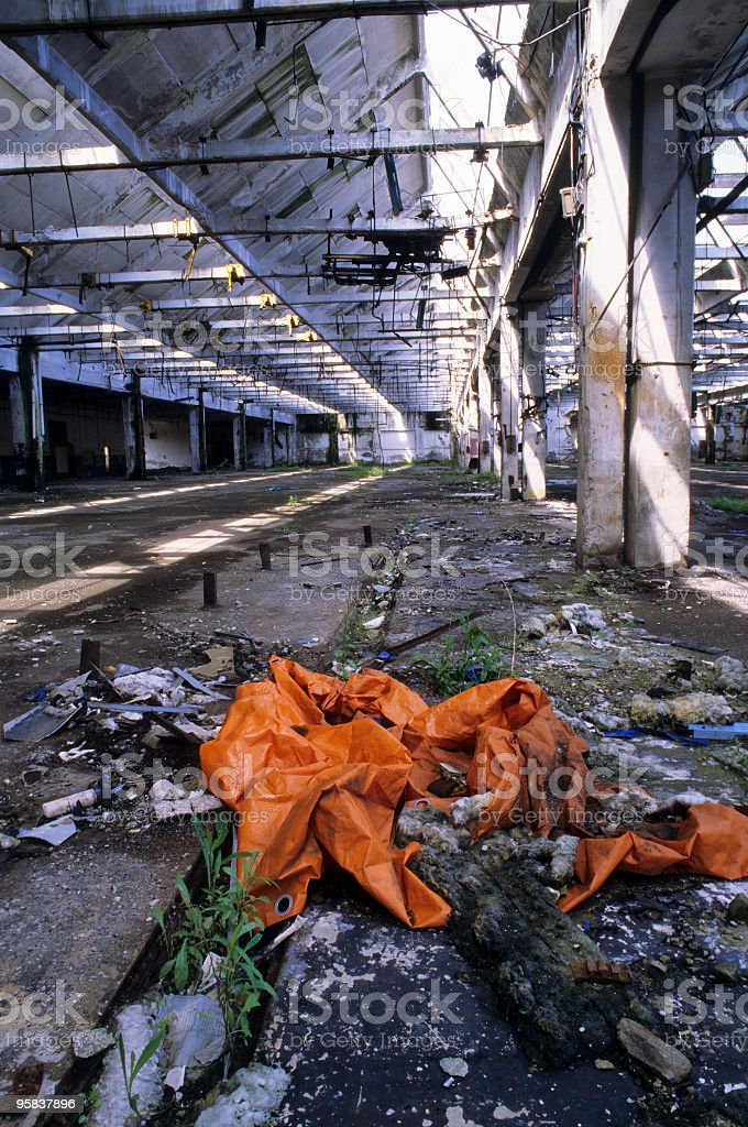 Abandoned factory.The day after tomorrow-series royalty-free stock photo