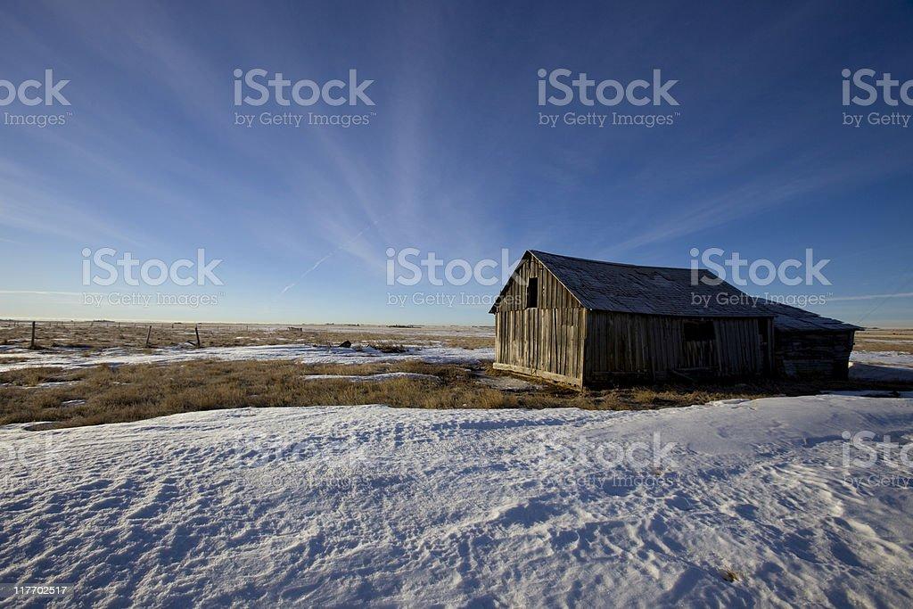 Abandoned Farm Building royalty-free stock photo