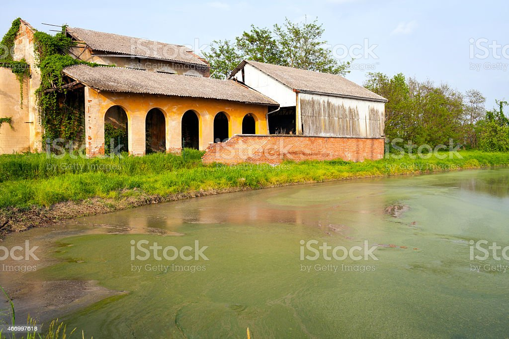 Abandoned farm. Color image stock photo