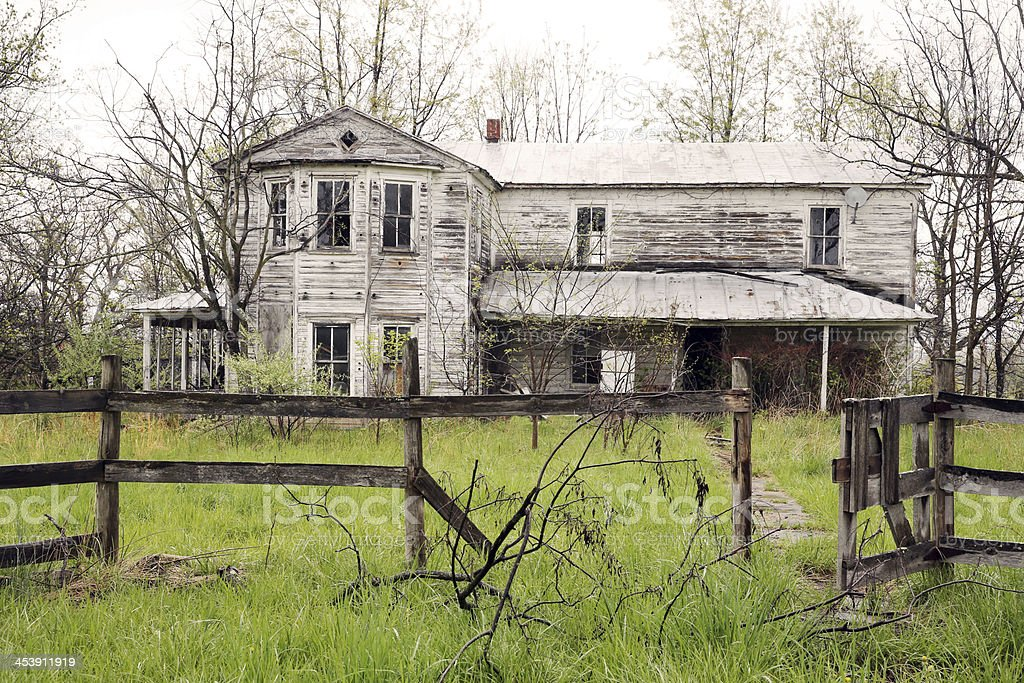 Abandoned Farm House in Rural America royalty-free stock photo
