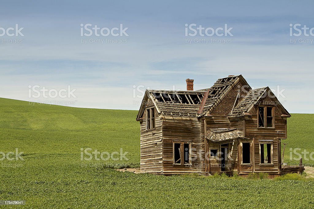Abandoned Farm House stock photo