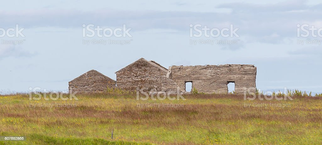 Abandoned farm in Iceland stock photo