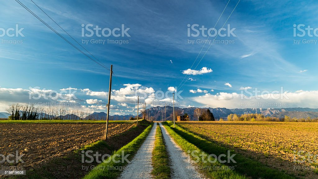 Abandoned farm in the countryside stock photo