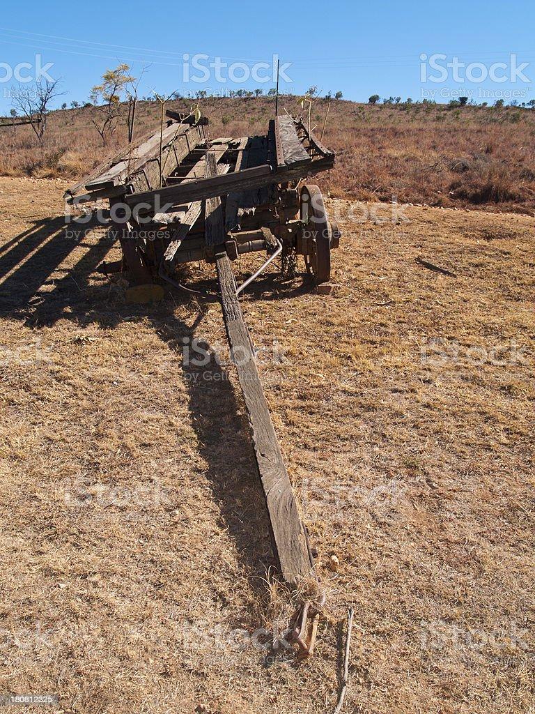 Abandoned farm wagon royalty-free stock photo