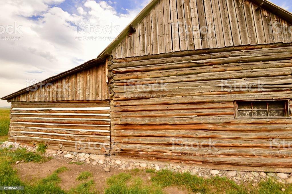 Abandoned farms in Grand teton National Park stock photo