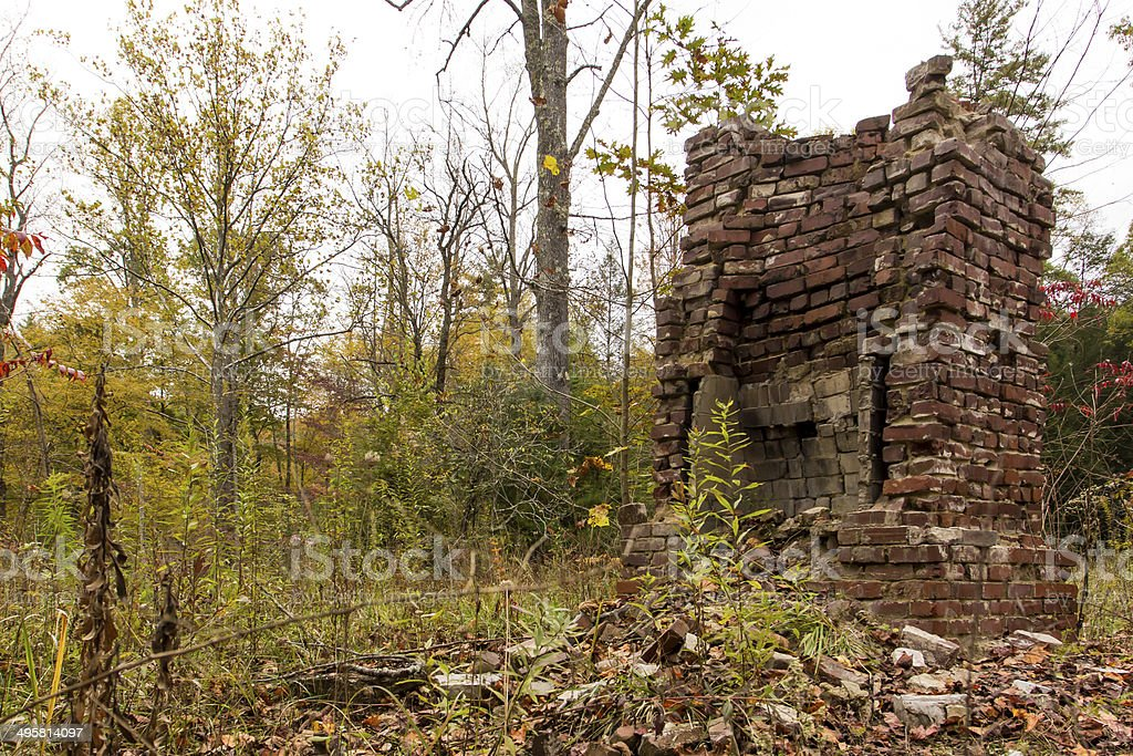 Abandoned Fireplace stock photo