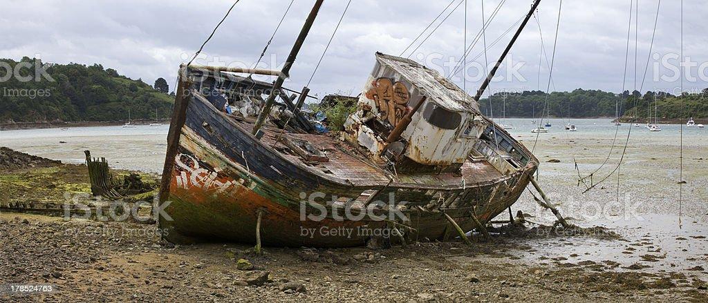 Abandoned fishing boat royalty-free stock photo