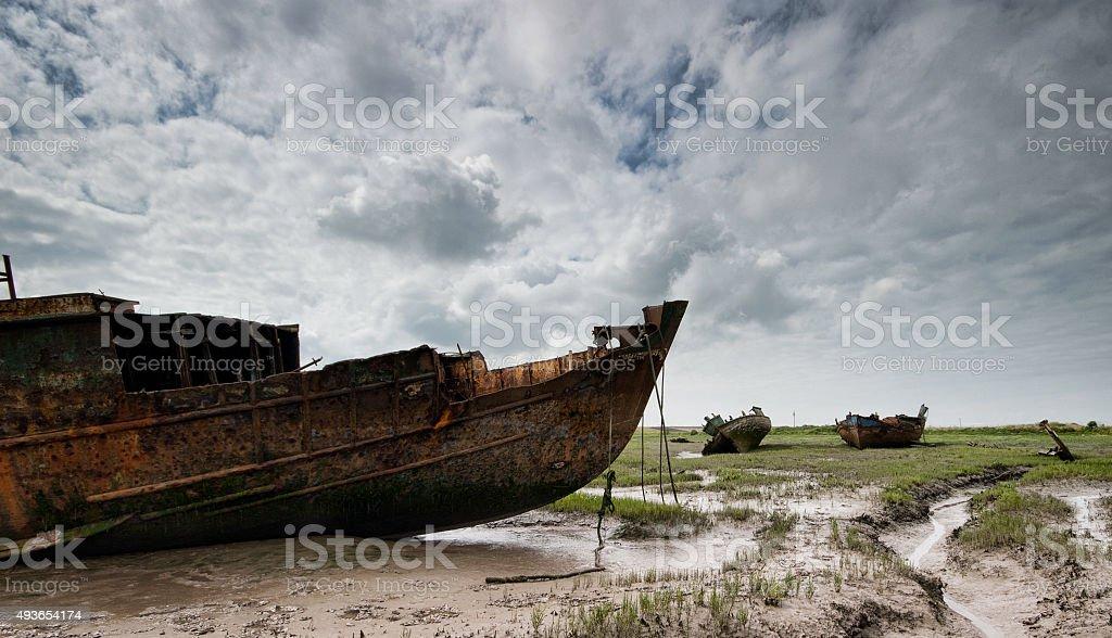 Abandoned Fishing Vessel 2 stock photo