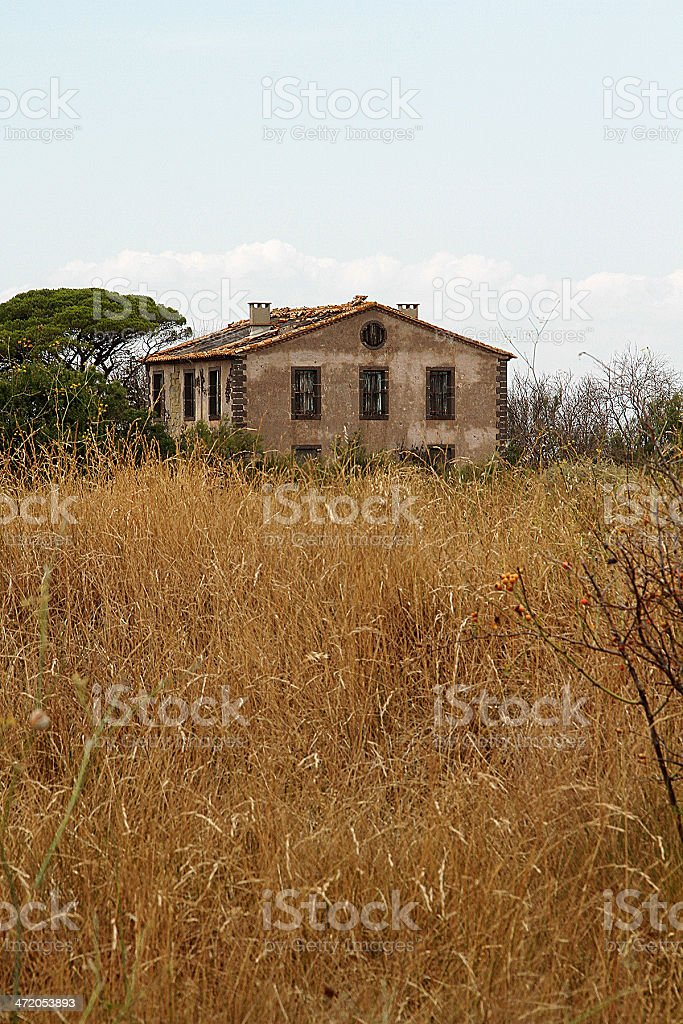 Palazzo abbandonato francese foto stock royalty-free