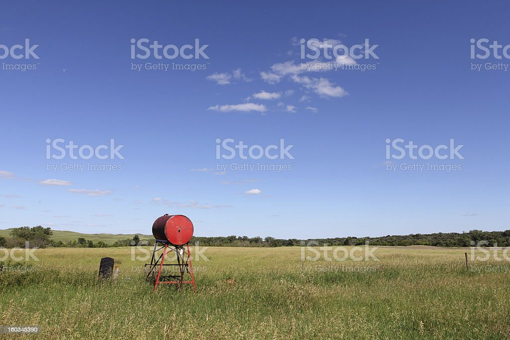 Abandoned fuel tank royalty-free stock photo