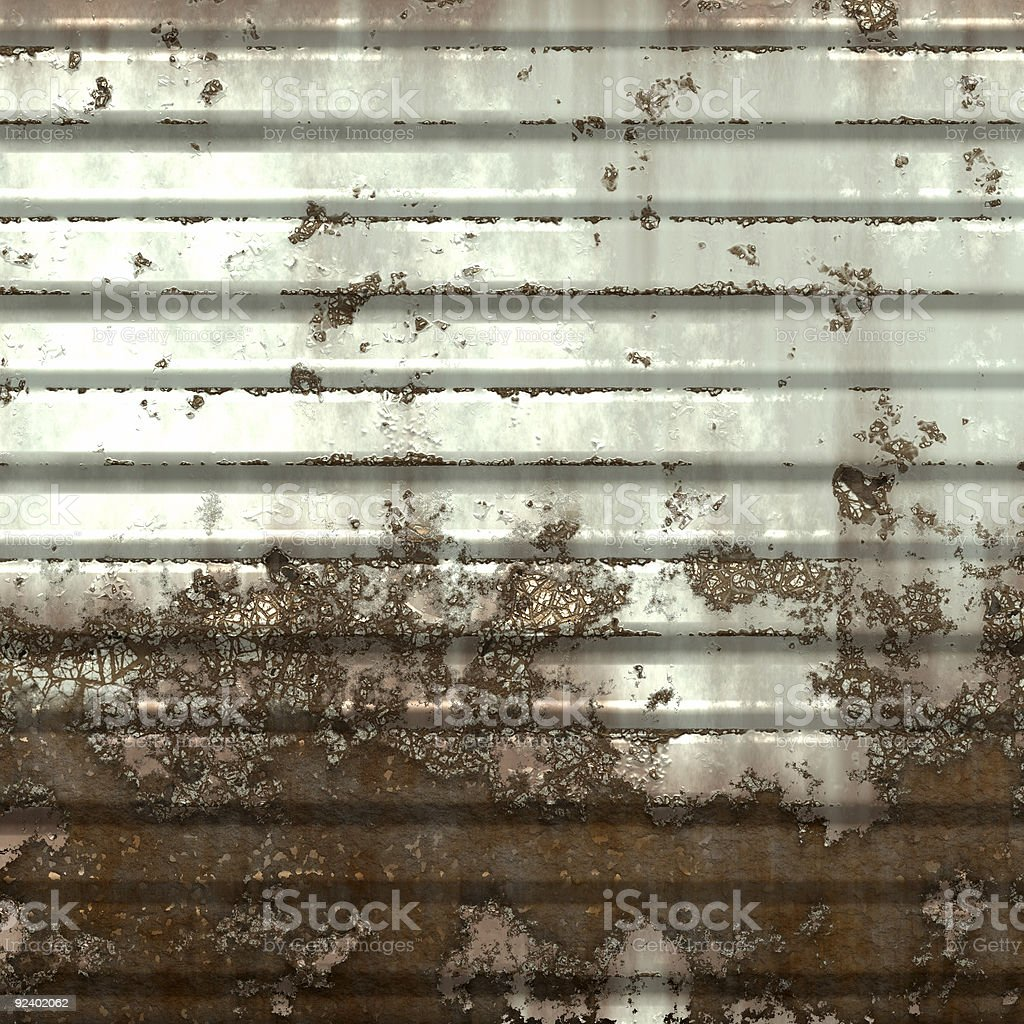 Abandoned garage wall stock photo