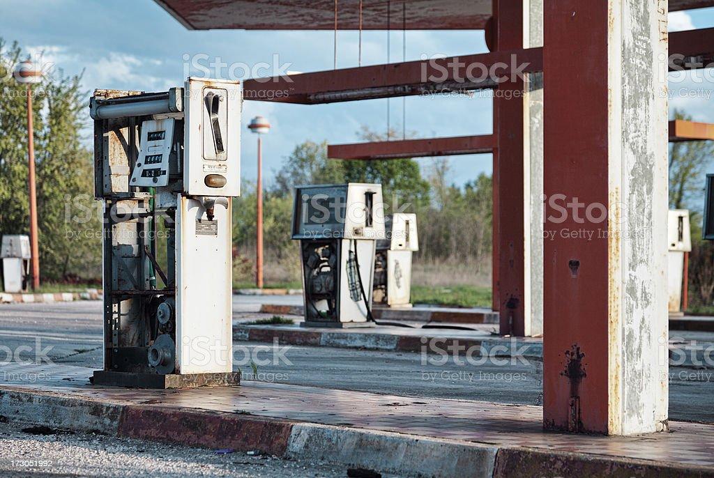 Abandoned gas station royalty-free stock photo