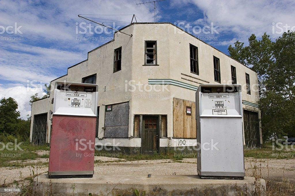 Abandoned Gas Station stock photo