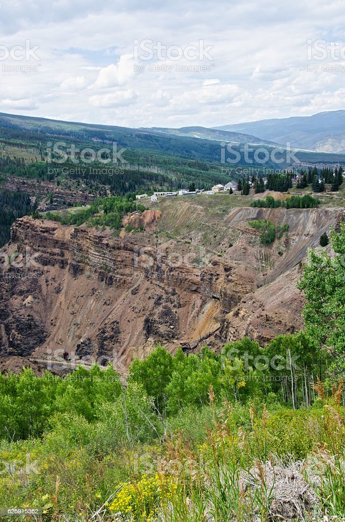 Abandoned Ghost Town of Gilman, Colorado stock photo