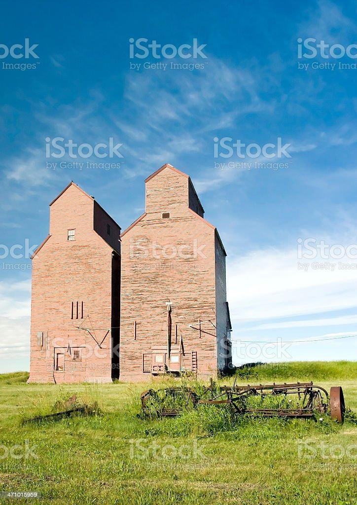 Abandoned Grain Elevators royalty-free stock photo
