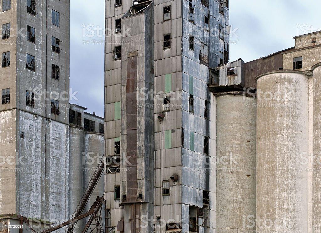 Abandoned Granary - Buffalo, NY stock photo