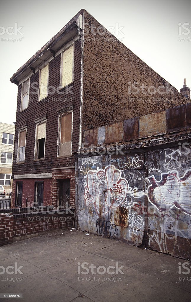 Abandoned Home in Brooklyn royalty-free stock photo