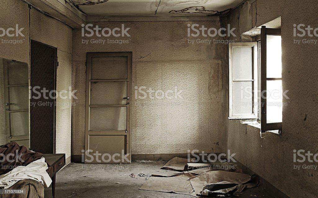 Abandoned Home Interiors royalty-free stock photo