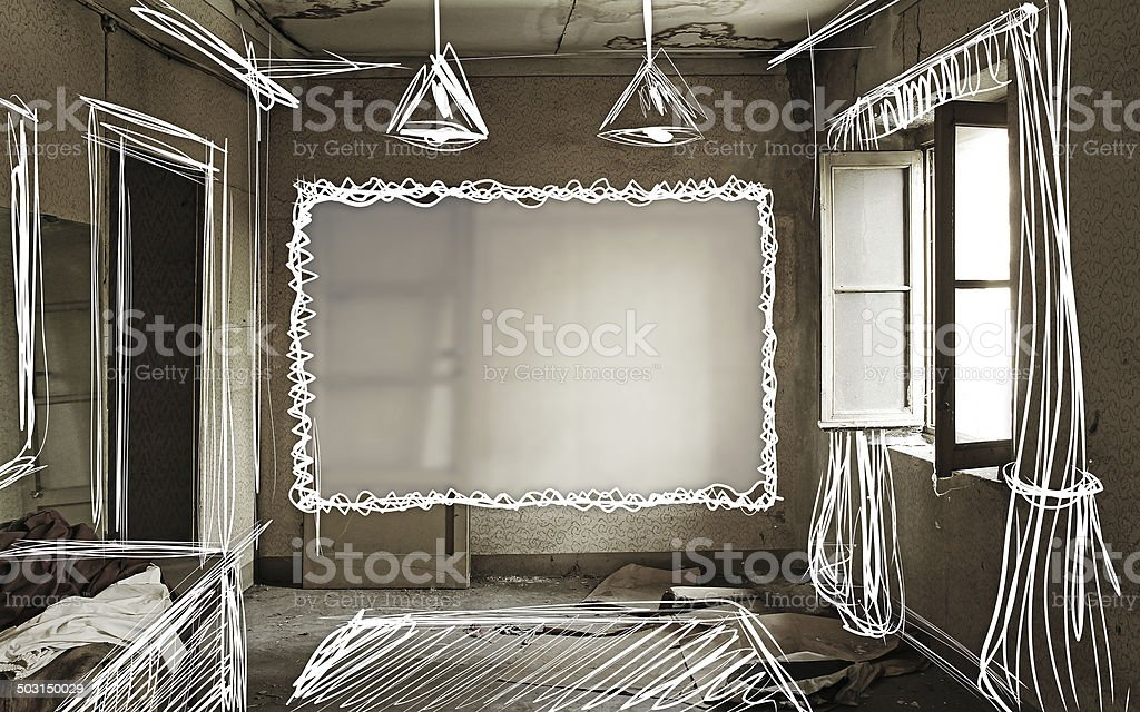 Abandoned Home Renovation stock photo