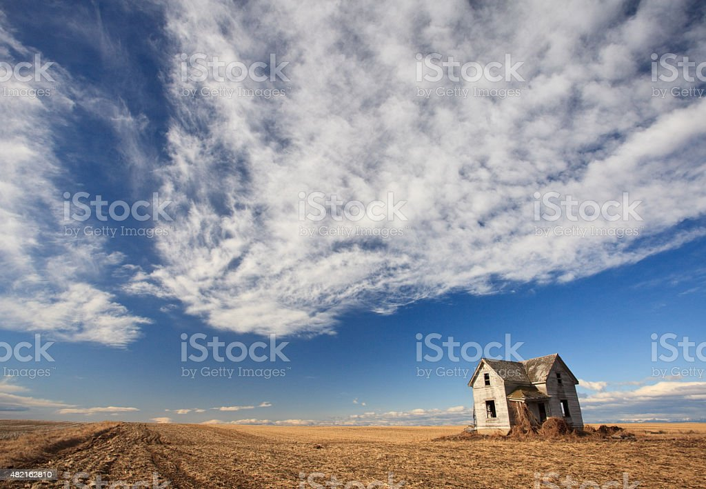 Abandoned Homestead on the Great Plains stock photo