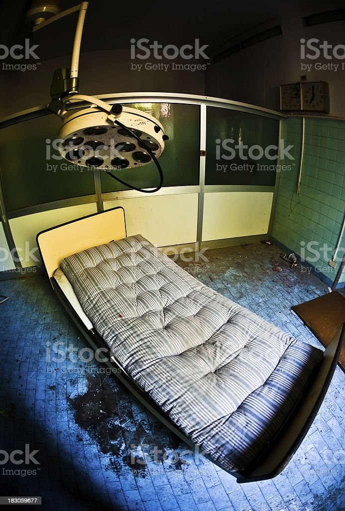 Abandoned Hospital Operating Room Fisheye royalty-free stock photo