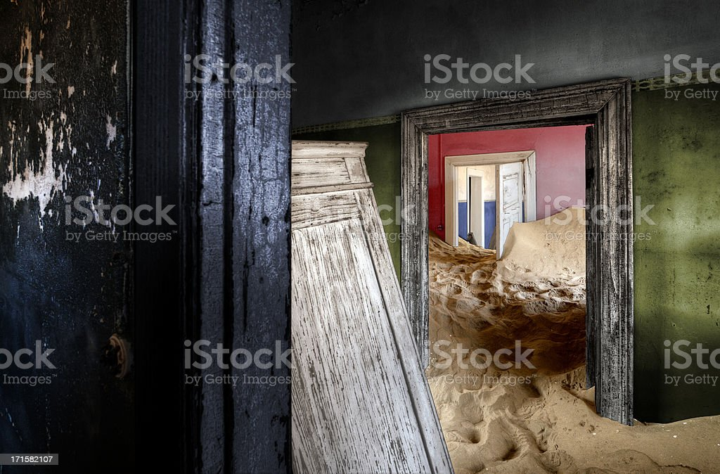 Abandoned house at Kolmanskop stock photo