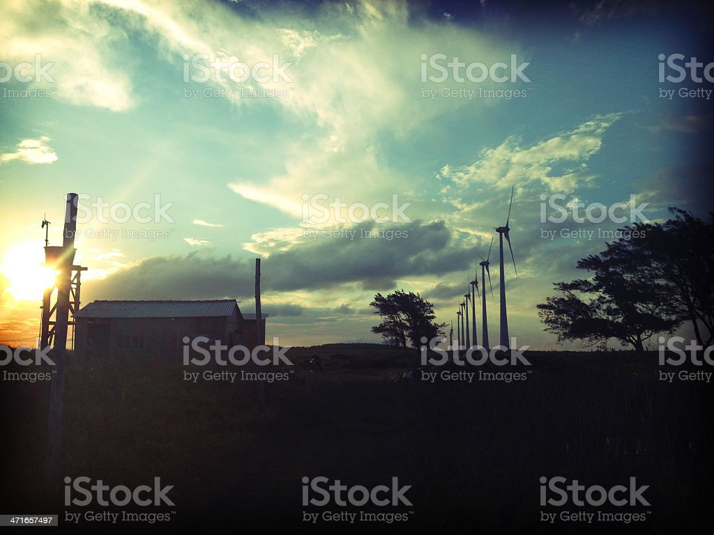 Abandoned House In Beautiful Scenario. royalty-free stock photo