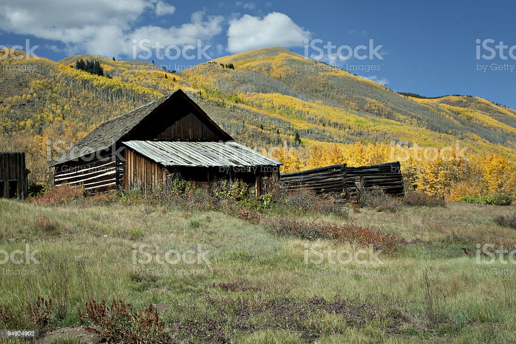 Abandoned House in Colorado Ghost Town royalty-free stock photo