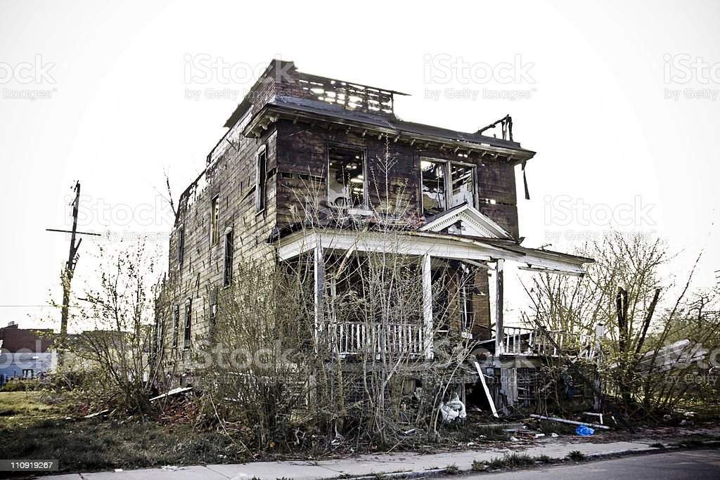 Abandoned house in Detroit, MI. royalty-free stock photo