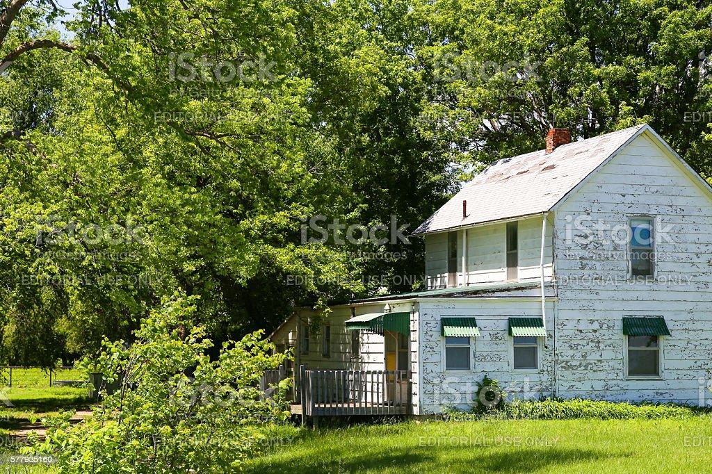 Abandoned House in Kansas stock photo
