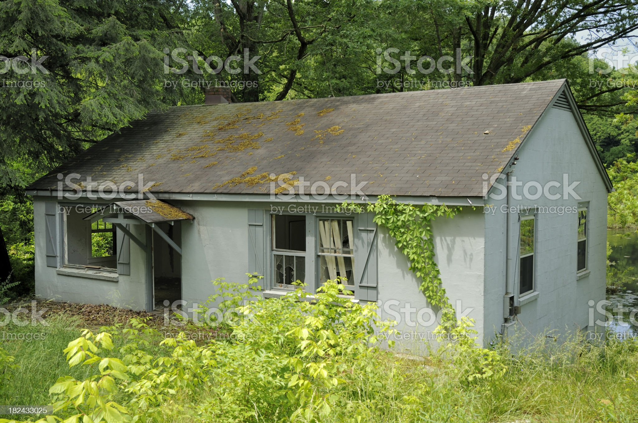 Abandoned house in Knoxville, TN USA royalty-free stock photo