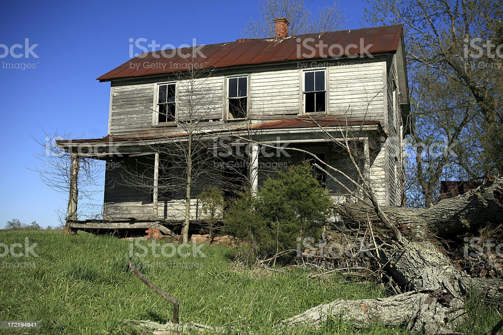 Abandoned House in Rural America royalty-free stock photo