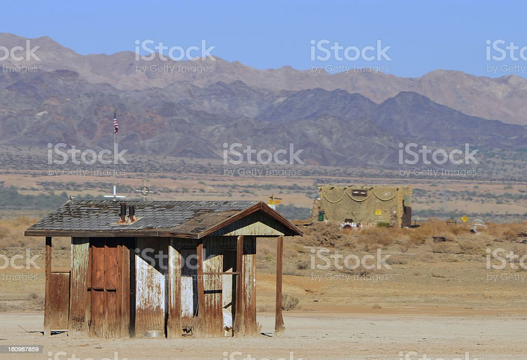 Abandoned House in the Desert royalty-free stock photo