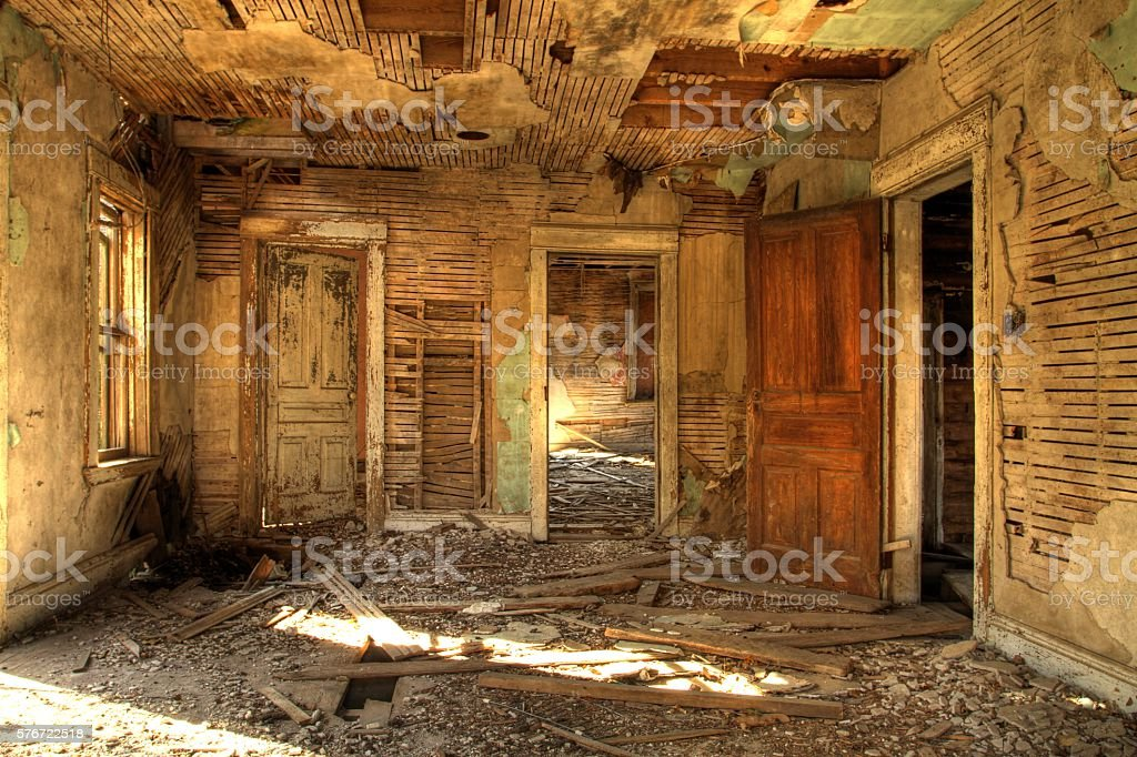 Abandoned House Interior stock photo