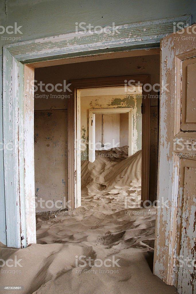 Abandoned House - Kolmanskop, Namibia. stock photo