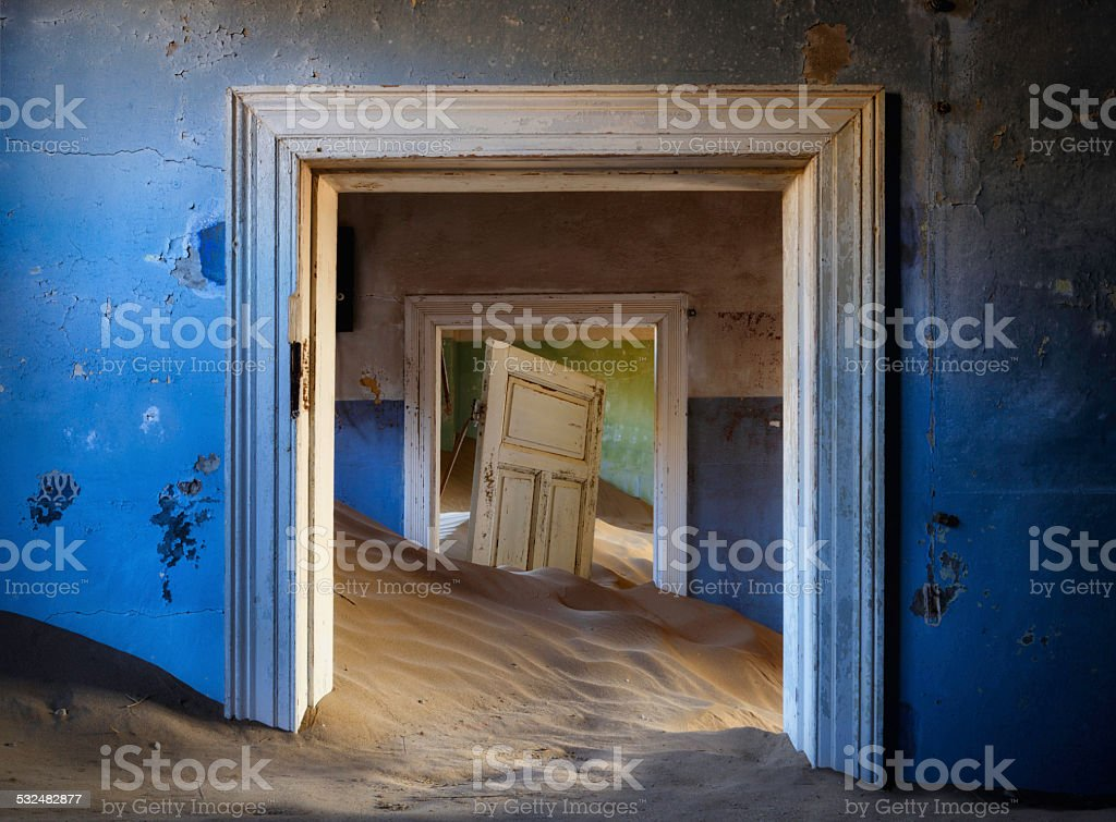 Abandoned House, Kolmanskop stock photo