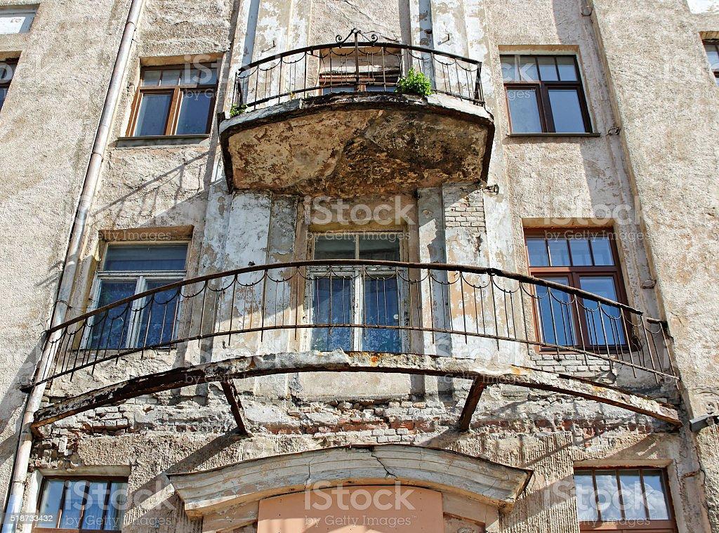 Abandoned house. stock photo