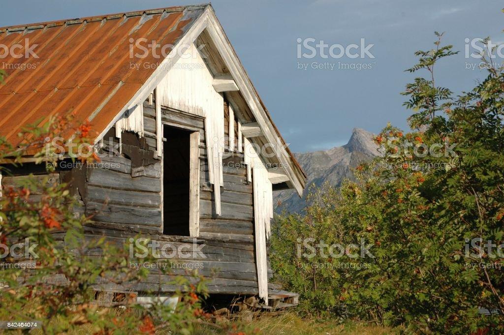 Abandoned house stock photo