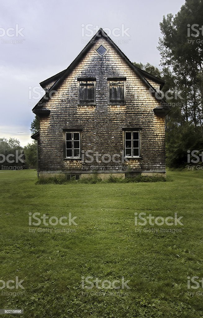 Abandoned House side view HDR royalty-free stock photo