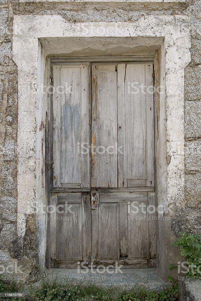 abandoned house's door royalty-free stock photo