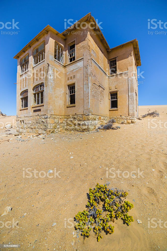 Abandoned houses in Kolmanskop, Namibia stock photo