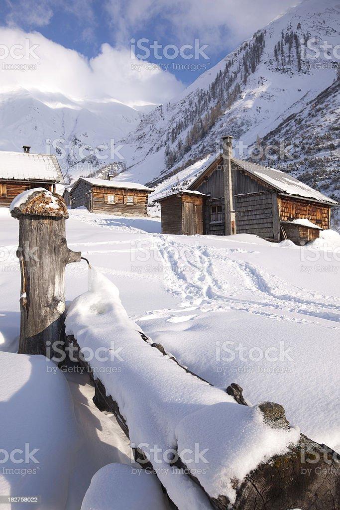abandoned hut in tirol austria stock photo